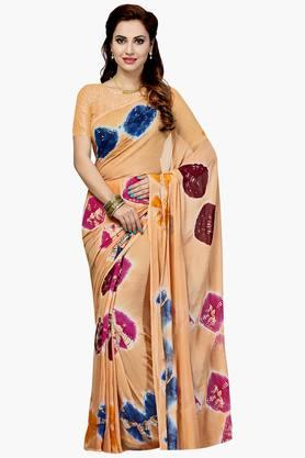 Women Faux Georgette Geometrical Printed Saree - 202447187