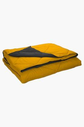 STOA PARIS Yellow Grey Reversible Microfiber Comforter (Comforter (Single)