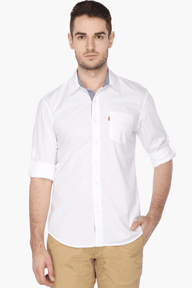Levis Ladies Formal Shirts (Men's) - Mens Full Sleeves Casual Solid Shirt