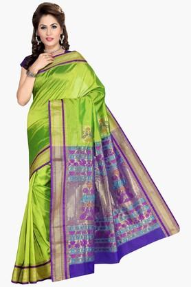 ISHIN Women Art Silk Saree