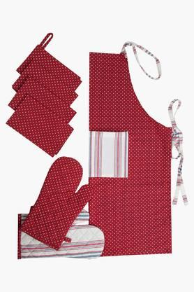 BLISS Multi Colour Printed Kitchen Linen Set (Oven Glove (2 Pcs) - 202234030