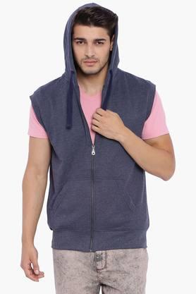 BLUE SAINTMens Dark Navy Sleeveless Sweatshirt
