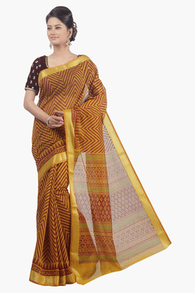 JASHN Womens Stripe Saree
