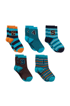 MOTHERCARE Boys Numbers Socks - Pack Of 5