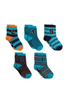 MOTHERCAREBoys Numbers Socks - Pack Of 5