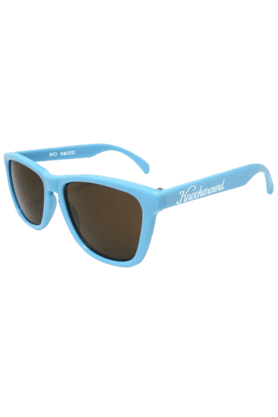 KNOCKAROUND Classic Premium Bio-Based Unisex Sunglasses Cornflower Blue/Amber-PRBB1003 (Use Code FB20 To Get 20% Off On Purchase Of Rs.1800)