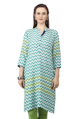 STOP Women Printed Kurta With Long Sleeves