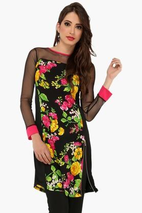 IRA SOLEILWomens Slim Fit Printed Kurta (Buy Any Ira Soleil Product And Get A Charms Bracelet Free) - 201787453