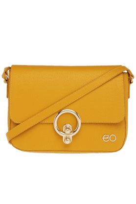 E2O Womens Patent Leather Sling Bag