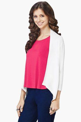 Womens Solid Casual Shrug