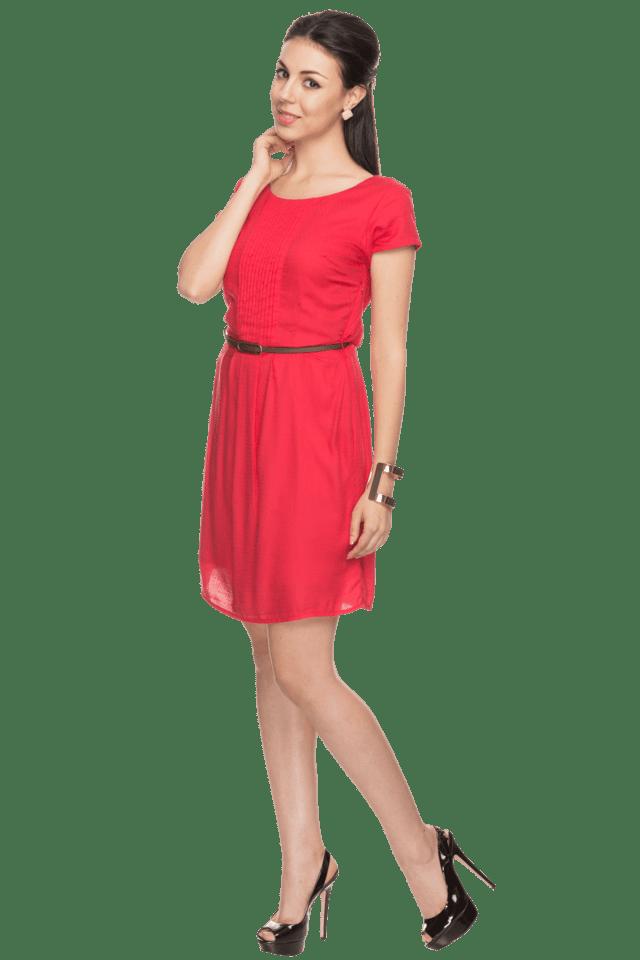 Womens Short-sleeved Dress