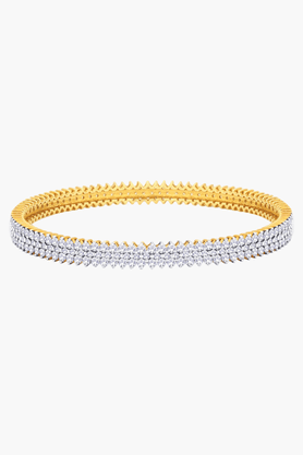 MALABAR GOLD AND DIAMONDS Womens 18 KT Gold And Diamond Bangle - 201203833