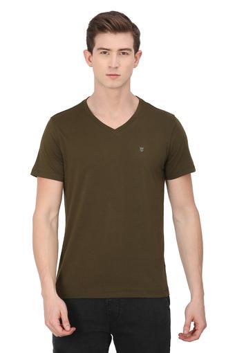 WRANGLER -  OliveT-shirts - Main