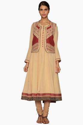 RITU KUMARWomens Printed Anarkali Suit