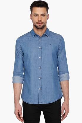Calvin Klein Jeans Formal Shirts (Men's) - Mens Full Sleeves Casual Dotted Shirt