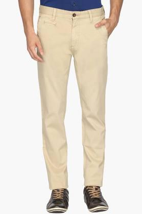 ARROW SPORTMens Chrysler Fit 5 Pocket Solid Trousers - 202091629