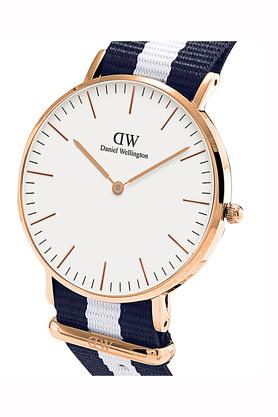 Womens White Dial Synthetic Analogue Watch