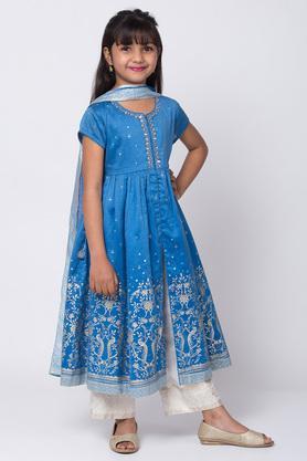 BIBA GIRLS - BlueSalwar Kurta Set - 5