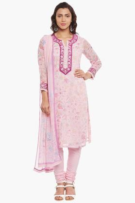 BIBA Womens Poly Cotton Straight Suit Set - 202179827