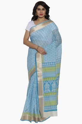 Women Ethnic Motif Print Cotton Saree