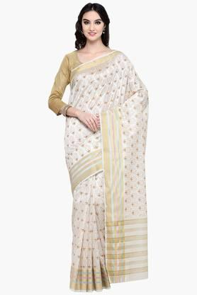 Womens Art Silk Golden Weave Saree With Blouse Piece - 202531429