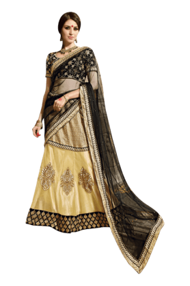 Women Banarasi Lehenga Choli (Buy any Demarca product & get a pair of matching earrings free)