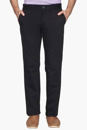 Mens Regular Fit 4 Pocket Solid Chinos (Kansas Fit)