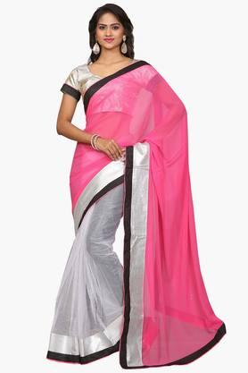 DEMARCA Women Georgette & Net Designer Saree - 202006881