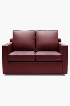 Garnet Cherry Leatherette Sofa (2 - Seater)