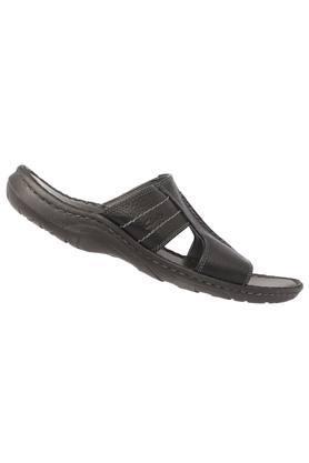 Mens Leather Slipon Slippers