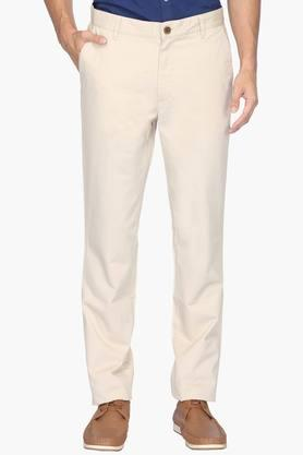 WILSTY Mens Slim Fit 4 Pocket Solid Chinos  ...