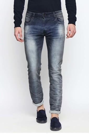 Mens Slim Fit Heavy Wash Jeans