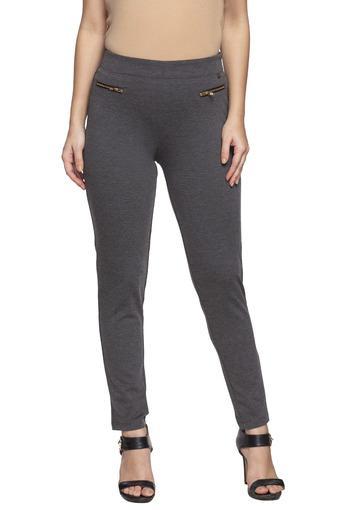 ALLEN SOLLY -  GreyTrousers & Pants - Main