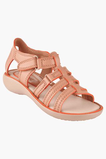 Girls Velcro Closure Casual Sandal