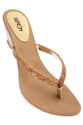 LEMON & PEPPERWomens Toned Fancy Wedge Sandal