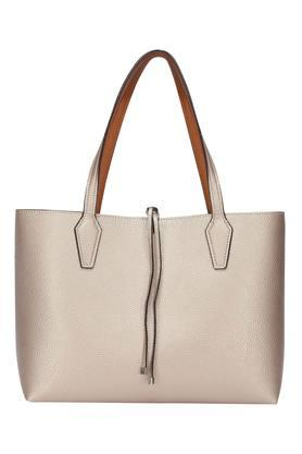 Womens Drawstring Closure Tote Handbag with Sling Bag