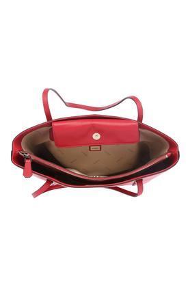 Womens Snap Closure Tote Handbag