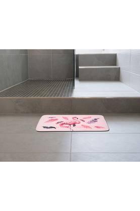 Rectangular Flamingo Printed Bath Mat