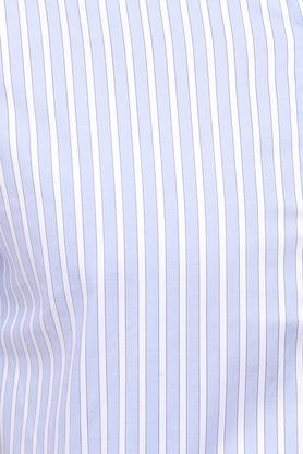 Mens Slim Collar Stripe Formal Shirt