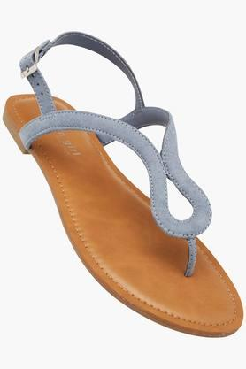Womens Casual Wear Buckle Closure Flat Sandals - 202359270