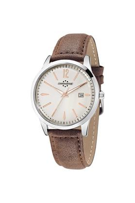 Mens Off-White Dial Leather Analogue Watch - R3751255003