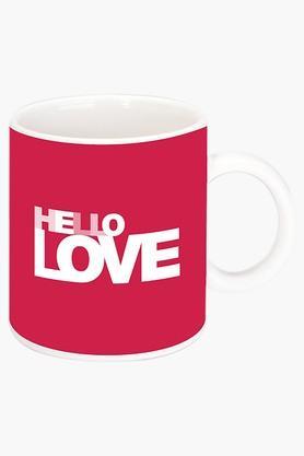 CRUDE AREAHello Love Printed Ceramic Coffee Mug