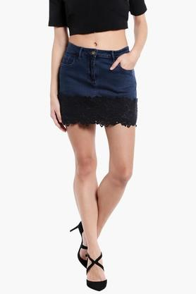 LOVE GENRATION Womens Lacy Mini Skirt - 202287822_9308