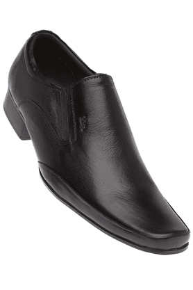 LEE COOPER Mens Black Leather Slipon Formal Shoe