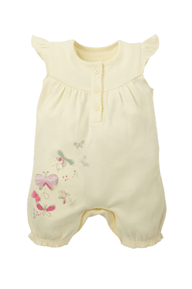 MOTHERCARE Girls Cotton Solid Rompers