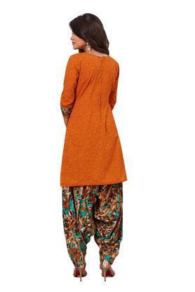 Womens Printed Salwar Suit Dress Material with Dupatta