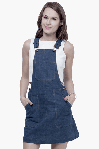 diversified in packaging big discount new style & luxury Womens Denim Dungaree Dress