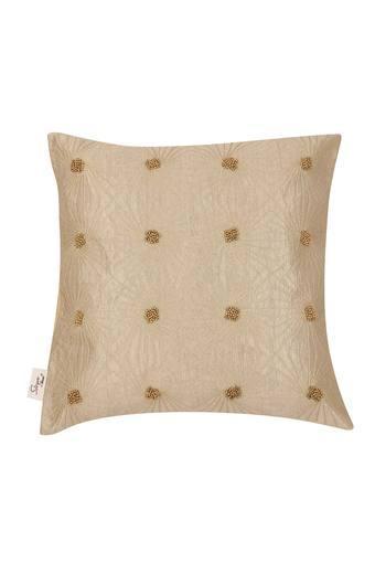 Square Raunak Embellished Cushion Cover