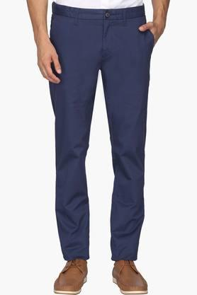 U.S. POLO ASSN. Mens Slim Fit 5 Pocket Printed Trousers