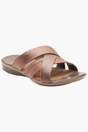 Mens Leather Slip On Casual Slippers